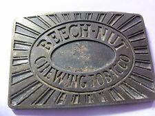 Vintage 1970's Brasstone Beech-Nut Chewing Tobacco Belt Buckle