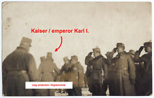 K.u.k. Foto Kaiser Karl,General,Stahlhelm,Offizier,kuk photo emperor charles,ww1