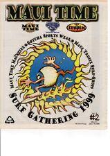 Rick Griffin Surfin' Eyeball Logo - Maui Time Newspaper Surf Gathering 1999 Mint