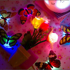 1X Change Colors Stick-on Butterfly Wall Xmas Decor LED Night Light Lamp