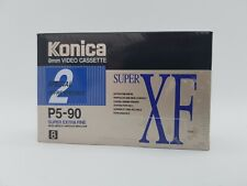 Konica 8mm Video Cassette Super XF P5-90 2 pack New & Sealed