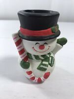 Vintage Snowman Taper Candle Holder 1pc Table Top Display Decoration Holiday