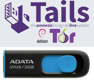 Tails Linux 4.18 32 Gb USB 3.2 Drive Safe Fast Secure Live Bootable Anonymous