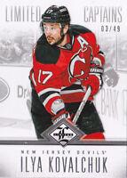 12-13 Limited Ilya Kovalchuk /49 Captains SILVER NJ Devils 2012