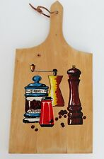 Vintage Wood Paddle Cutting Board Made in Yugoslavia - Pepper Mill