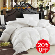 50% Goose Down 100% Cotton Cover Quilt/Duvet/Doona-White-Super King Size