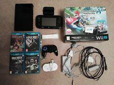 Nintendo Wii U 32GB Black Handheld System, games plus extras and box