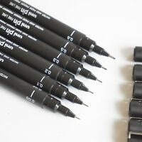 Uni Pin Fine Liner Pen Pigment Marker Waterproof Black Ink - 0.05mm - 0.8mm - UK