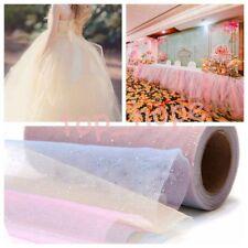 10Yard Glitter Rainbow Sequin Mesh Fabric Bridal Wedding Dress Lace Fringe Craft
