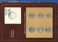 Coin Sets of All Nations Mozambique all 1986 UNC but 50 Centavos 1982 Horse