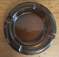 "Vintage Glass Ashtray Brown 6"" Round 1-1/2"" High - 4 ""Cigar Parks"""