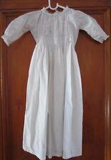 Antique Victorian / Edwardian Children's GOWN - White Cotton & Lace Trim