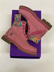 Timberland Liberty London Premium 6 In Waterproof Boot Pink Womens Size Uk 4