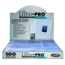 ULTRA PRO 9 Pocket Pages Silver Series Super Clear 11 Holes MAGIC YUGIOH POKEMON