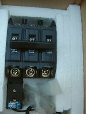 TERASAKI 3 pole 100 amp 460 volt circuit breaker with shunt trip, Brand New