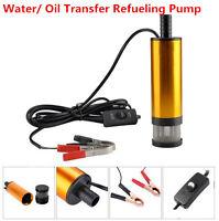 12V Detachable Submersible Pump 38mm Water Oil Diesel Fuel Transfer Refueling