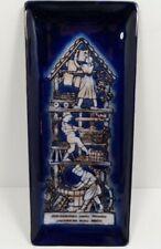 1973 ANDO Japanese Cloisonne Enamel Plate Trinket Tray Leather Bottom - O.P.M.C.
