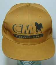 New Old Vintage 1990s Cm Horse Trailers Cm Farm Trailers Snapback Hat Cap