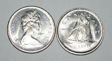 Canada 1969 Small Date Nice UNC 10 cent from roll