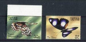 Nevis QEII 1983 30c & $2 butterflies SG105w, 108w MNH