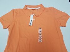 New Woman's Size Large Orange DNKYC Polo Shirt Classic DKNY Donna Karen New York