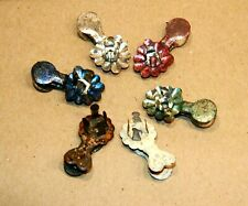 Antique - Christmas Tree Tin Clip Candle Holders - Different Colors