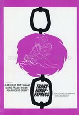 JEAN-LOUIS TRINTIGNANT ROBBE-GRILLET TRANS-EUROP EXPRESS 1966 RARE SYNOPSIS