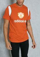 adidas Originals Men's Manchester United MUFC Retro 85 Slim Fit T Shirt Red