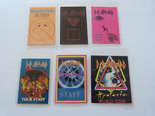 DEF LEPPARD - Collection Of SIX Laminated Backstage Tour Passes  X 6