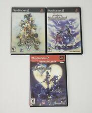 Kingdom Hearts Lot Bundle of 3 1, 2, & RE: Chain of Memories Complete Excellent