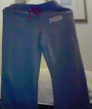 Grey Marl Track Pants  Girls Size 10 - High school musical - silver logo - New