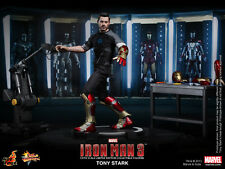 HOT TOYS 1/6 MARVEL IRON MAN 3 MMS191 TONY STARK ARMOR TESTING WORKSHOP FIGURE