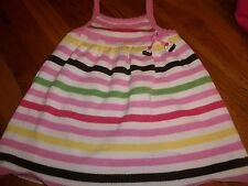 GYMBOREE SIZE 2T 2 T YEARS BIRTHDAY PINK CUPCAKE SWEATER DRESS TEA FOR TWO 24 MO