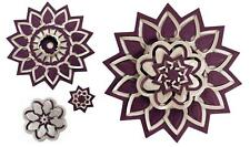 Spellbinders Shapeabilities Flower Rosettes Medallions Cut Fold Tuck 3Die S5-113