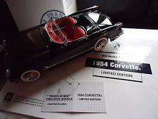 FRANKLIN MINT 1954 CHEVROLET CORVETTE LE CAR #0016/0500 RARE S11F394 MIB BLACK