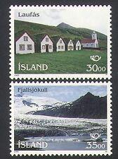 Iceland 1995 Landscapes/Glacier/Tourism/Buildings/Architecture 2v set (n34930)