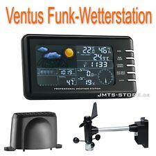 Funk Wetterstation mit Regen- und Windmesser Innen-/Außen Temperatur Luftfeuchte