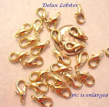 25 Delux Gold Lobster Clasp Clasps