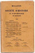 BULLETIN SOCIETE D'HISTOIRE DE BRETAGNE 1946 LES DESTRUCTIONS DE LA GUERRE 39/45