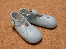 "Doll Shoes, SLIM*  58mm LT BLUE Girl Dressy - fits 14"" Kish"