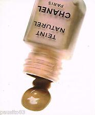 PUBLICITE ADVERTISING 075  1977  CHANEL   maquillage   TEINT NATUREL