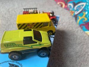 Lot of 3 Hot Wheels 1980 Old Number 5 1984 Tall Ryder 1986 Nuclear Waste Van Die