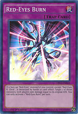 Red-Eyes Burn Super Rare 1st Edition Yugioh Card DRL2-EN021