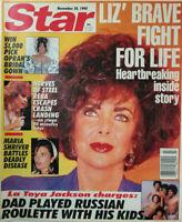 Star Magazine Nov 24 1992 Liz Taylor Fight For Life - Reba McEntire Plane Crash