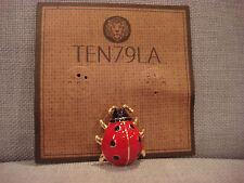 Pin Brooch - Brand New Ten79La Boutique Designer Ladybug Metal