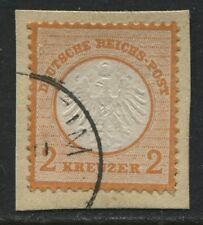 Germany 1872 Imperial Eagle 2 kr orange used  (JD)