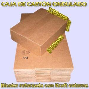 CAJAS DE CARTON B3 31X22X8cm MARRON KRAFT ONDULADO ENVIOS PAQUETERIA