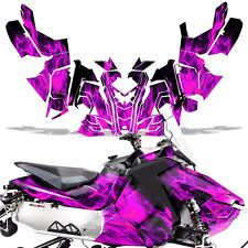 Sled Wrap for Polaris AXYS RUSH Pro S Graphic Snow Decal Kit Snowmobile ICE PINK