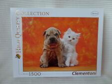 PUZZLE ANIMALS CHIEN CHAT 1500 PIECES CLEMENTONI