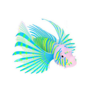 Luminous Underwater Aquarium Lionfish Aquatic Artificial Glow Fish Tank Ornament